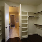 Wood Dressing Room with Pneumatic Vacuum Elevator - Traditional - Closet - New York - by ...