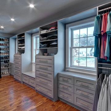 Brushed Gray Closet