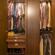 Traditional Closet by c3d design