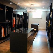 Contemporary Closet by Meg Starsiak Interiors / California Closets