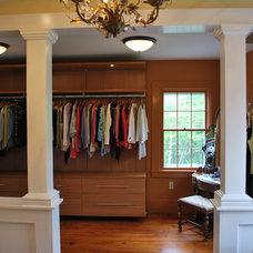 Traditional Closet by Stephanie Bonini