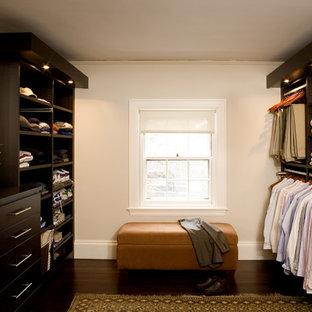 Trendy walk-in closet photo in Boston