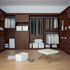 Contemporary Closet by Canyon Creek Cabinet Company