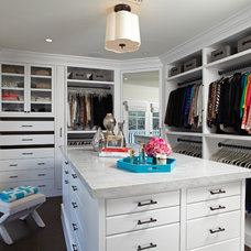 Traditional Closet by Lisa Adams, LA Closet Design