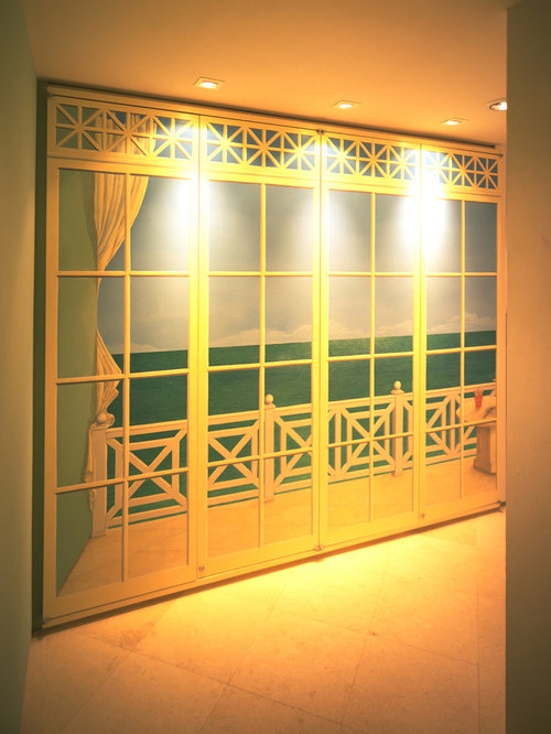 Closet Door Mural Home Design Ideas Pictures Remodel And