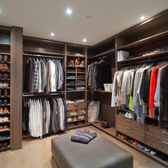 contemporary closet by Old World Kitchens & Custom Cabinets
