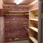 Custom Closet In Basement Traditional Closet Other