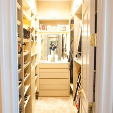 Contemporary Closet by RenovationMetro