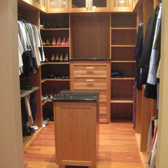 contemporary closet by Maughan Design & Remodel
