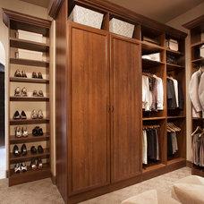 Traditional Closet by A Closet Case