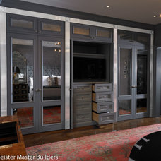 Contemporary Closet by Woodmeister Master Builders