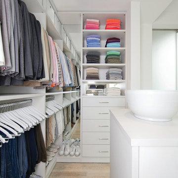Classic White Walk-In Closet
