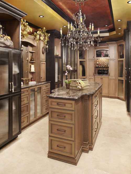 Large Elegant Womenu0027s Travertine Floor And Beige Floor Dressing Room Photo  In Dallas With Recessed