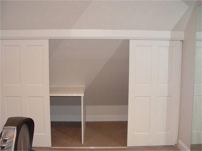 Attic knee wall ideas for In wall sliding door