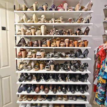 Closet and Shoe Organization   Organized Living freedomRail