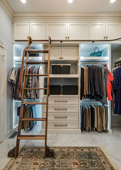 Traditional Closet by Cabinet Studio, Inc.