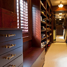 Traditional Closet by CONNELL BUILDING COMPANY