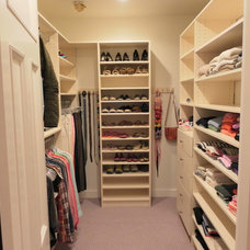 Contemporary Closet by Amazing Space Custom Closets
