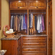 Rustic Closet by USI Design & Remodeling