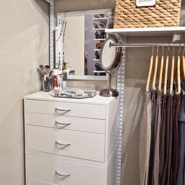 Closet Organization with Drawers | Organized Living freedomRail