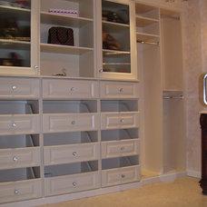 Traditional Closet by John Manidis, Top Shelf Closets