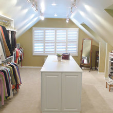 Attic Closet with Angled Ceiling