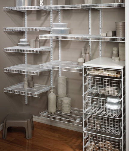 Effective Pantry Shelving Designs For Well Organized: Wire Shelves Ideas, Pictures, Remodel And Decor