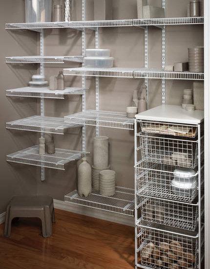 Wire Shelving Closet Design Ideas Remodels U0026 Photos