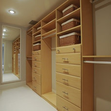 Contemporary Closet by ZeroEnergy Design