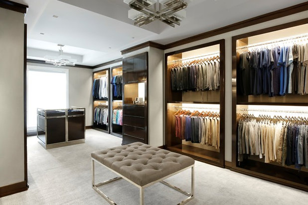 Contemporary Closet by Austin Bryant Moore LLC.