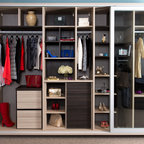 Master Closet with Walk in Safe - Contemporary - Closet - Houston - by Jonathan Ivy Productions