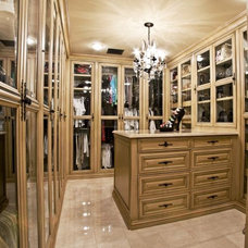 Mediterranean Closet by Goodall Custom Cabinetry