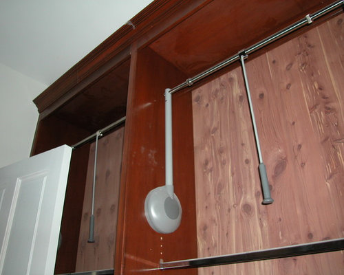 Hafele Pull Down Wardrobe Rails Chrome With Black Lift Rockler