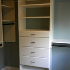 Walk-In Closet in Walnut and White Melamine - Contemporary - Closet - New York - by transFORM Home