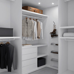 Inspiration for a contemporary walk-in closet remodel in Los Angeles
