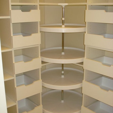Corner Cabinets With Lazy Susan Storage & Closets Design Ideas ...