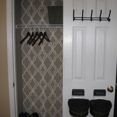traditional closet Coat Closet Organization