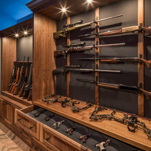 Example Of A Mountain Style Men S Closet Design In Austin