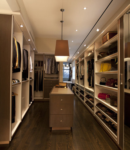 Contemporary Closet Color, Patterns and Texture