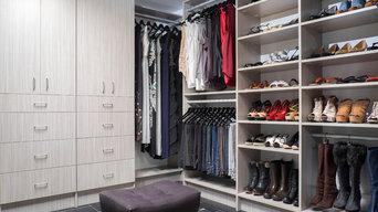 Concrete Walk-in Closet
