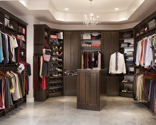 His and hers walk in closet home design ideas renovations for His and hers wardrobe
