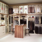 Two Tone Custom His and Hers Walk In Closet - Contemporary - Closet - denver - by Colorado Space ...