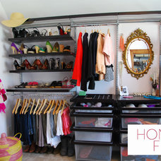 Contemporary Closet by Honey & Fitz