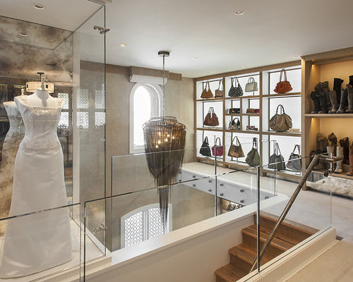 Inspiration For A Huge Contemporary Women S Walk In Closet Remodel Phoenix With Open Cabinets