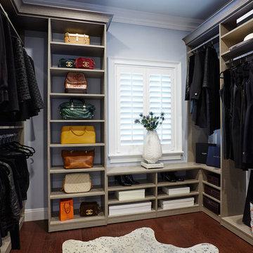 Contemporary Walk-In Closet