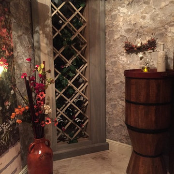 Convert a walk-in closet and utility room into a wine cellar