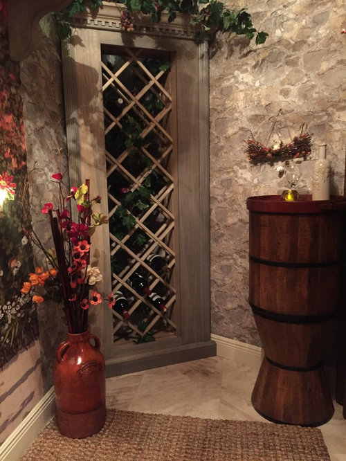Convert A Walk In Closet And Utility Room Into A Wine Cellar