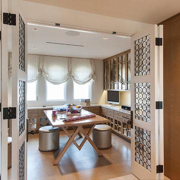 Craft Room in Closet
