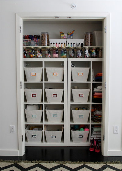 Traditional Closet by Neat Method San Diego