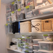 Contemporary Closet by Bella Organizing